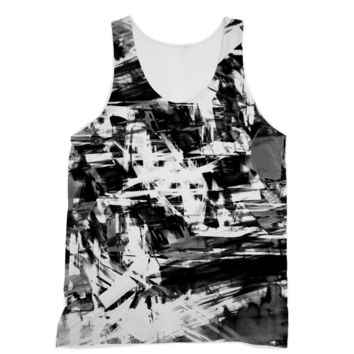 Black Smugded Ink American Apparel Sublimation Vest