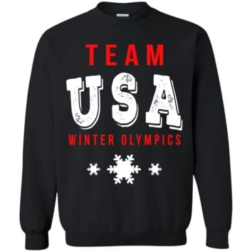 Winter Olympics 2018 Team USA t shirt G180 Gildan Crewneck Pullover Sweatshirt  8 oz.