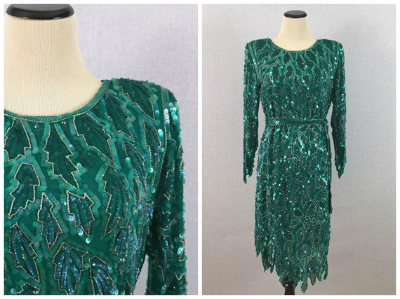 Vintage Green Cocktail Dress