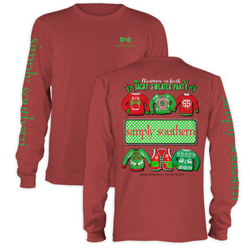 Simply Southern Christmas Tacky Sweater Party Holiday Long Sleeve T-Shirt
