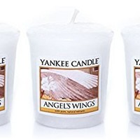 Lot of 3 Yankee Candle ANGEL'S WINGS Sampler® Votive Candles 1.75 oz