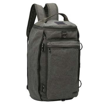 Large Weekender Convertible Backpack and Duffle Bag - Army