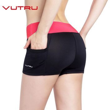 Vutru Yoga Shorts Women Fitness Clothing Sports Wear Woman Gym Fitness High Waist Solid Workout Tummy Control Athletic Shorts