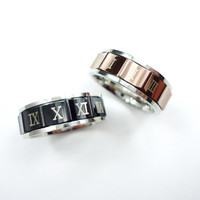 10 OFF  Coupon Code NEWYEAR10   Roman Numeral Ring by NUIMIE