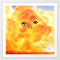 Beautiful Explosion. Art Print by Nick Nelson | Society6