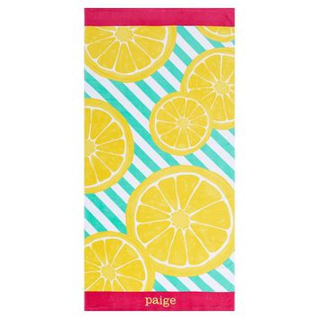 Lemonade Burst Beach Towel
