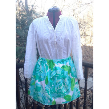 Lilly Pulitzer Poolside Blue First Impression Custom Handmade Skirt