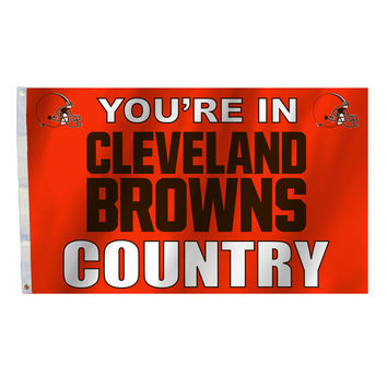 Cleveland Browns Country 3X5 Flag