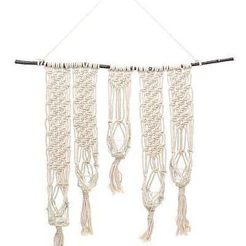 SOUL OF THE PARTY MACRAME WALL CANDLE HOLDER