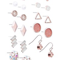 Rose Gold-Tone Earring Set at Guess