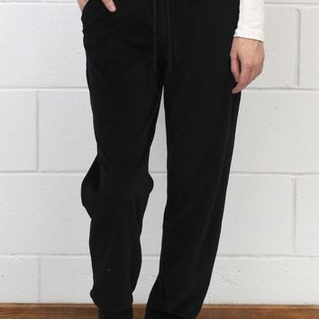 Soft Plush Jogger Pants {Black}