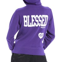 Blessed Zip Hoodie-Purple