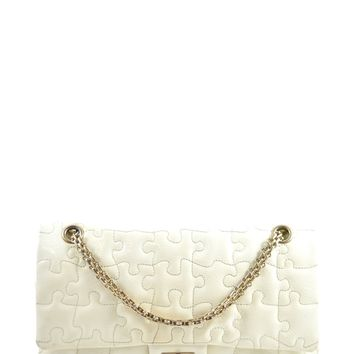 Chanel Crackled Patent Calfskin Puzzle Reissue 226 Flap White (Wear) 2008