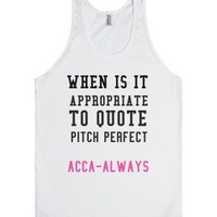 When Is It Appropriate to Quote-Unisex White Tank