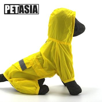 PETASIA Pet Dog Rain Coat Waterproof Jacket Puppy Outdoor Travel Raincoat Pet Clothes For Small Large Dog Chihuahua S-XXL