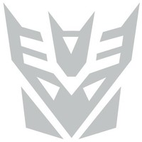 Transformers Decepticon Vinyl Decal Sticker , Silver