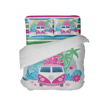 Kids Surf Bus Beach Bedding Comforter