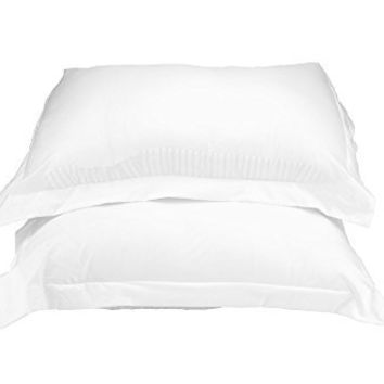 La Vie Moderne 1800 Thread Count Microfiber Queen Pillow Shams, White (Set of 2)