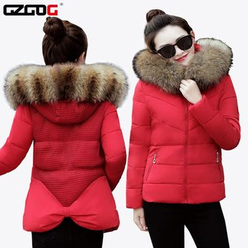 2017 Winter Womens Parka Casual Outwear Military Hooded Coat Winter Jacket Women Fur Coats Women's Winter Coats Mesh style