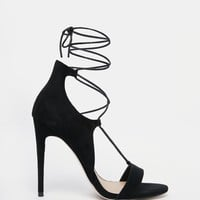 ASOS HAVE A BLAST Wide Fit Lace Up Heeled Sandals