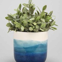 4040 Locust Watercolor Planter- Blue One