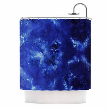 "Nina May ""Saltwater Diamond"" Blue Shower Curtain"