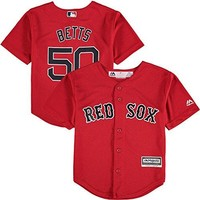Mookie Betts Boston Red Sox Cool Base Red Alternate Toddler Replica Jersey