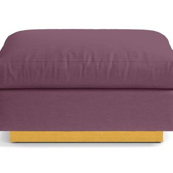 Taylor Plush Ottoman :: Leg Finish: Natural