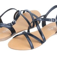 Womens Roman Gladiator Sandals Flats Strappy Shoes 4 Colors