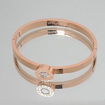 Bvlgari Woman Fashion Diamond Plated Bracelet For Best Gift-2