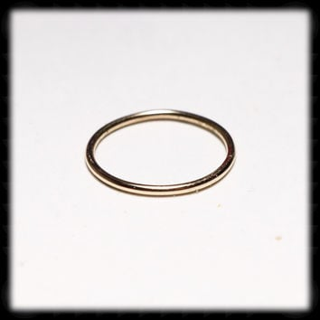Gold Stacking Ring - Size 7 1/4