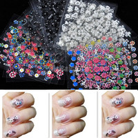 30x 3D Design Tip Nail Art Sticker Decal Manicure Mix Color Flower 3950 (Color: Multicolor) = 1712874500