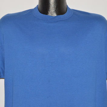 80s Russell Athletic Blue Blank t-shirt Large