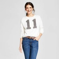 Women's Stranger Things 11 Graphic Sweatshirt (Juniors') - White