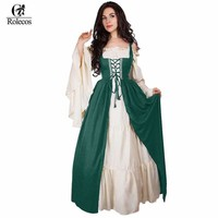 Woman'S Renaissance Victorian Medieval Gothic Long Dresses For Halloween Ball Gowns Costumes