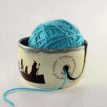 MADE TO ORDER - Lord of the Rings Ceramic Yarn Bowl