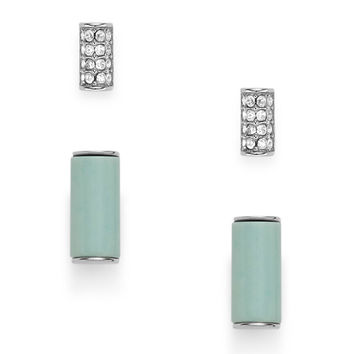 Semi-Precious Bar Stud Duo - $48.00