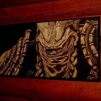 StarCraft art - Zeratul woodburned home decoration