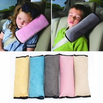 Car Safety Seat Shoulder Belt Protector Anti Roll Harness Pillow For Kids Toddler