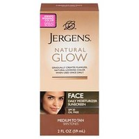 Jergens Natural Glow Face Moisturizer 2 oz (Medium/Tan)