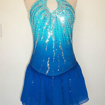 CUSTOM MADE NEW ICE SKATING BATON TWIRLING DRESS