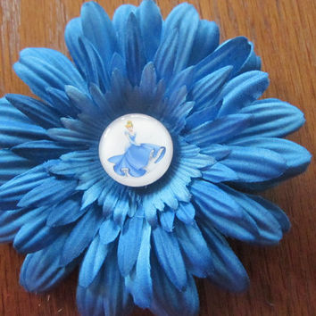 Cinderella Flower Hair Clip, Princess Hair Clips, Princess Hairbows, Hairbows, Bows, Hair Accessories  By Sweetpeas Bows & More