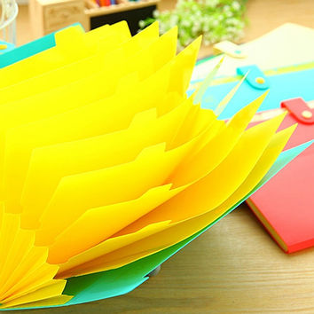 Cute colorful Accordion Folder, Paper Organizer, School Supplies, Paper Storage, Drawing, Stationery