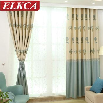 Green Forest Printed Thick Blackout Curtains for Living Room Window Curtains for Bedroom Kids Curtains Panels
