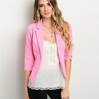 Rose Pink Blazer Jacket