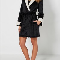 Plush Black Animal Ear Robe