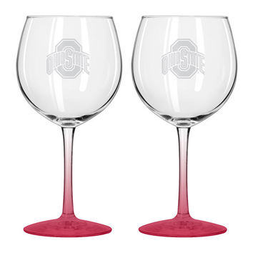 Ohio State Buckeyes Balloon Wine Glass