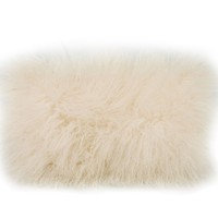 Lamb Fur Pillow Cream 100% Wool Front 100% Polyester Back