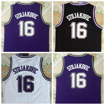 Hottest 16 Peja Stojakovic Jerseys Uniforms For Sport Fans Throwback Peja Stojakovic Shirt Rev 30 New Material Team Away Purple Black White
