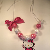 Hello kitty gumball necklace